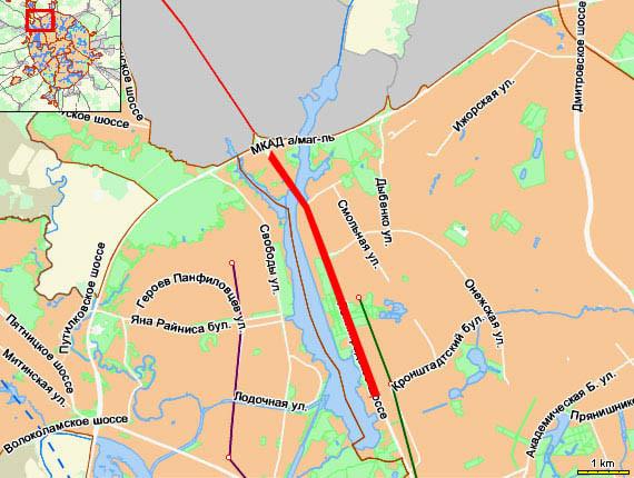 Ленинградское шоссе – от МКАД до Кронштадтского бульвара