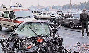 На Ярославском шоссе столкнулись и сгорели пять автомобилей