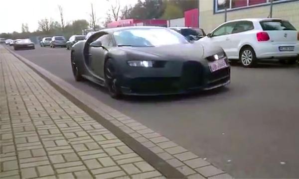 Видео с Bugatti Chiron попало в сеть за три месяца до премьеры модели