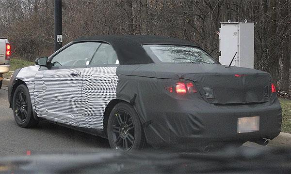 Chrysler Sebring кабриолет. Шпионские ФОТО