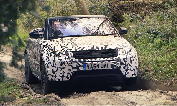 Кабриолет Range Rover Evoque показали на видео