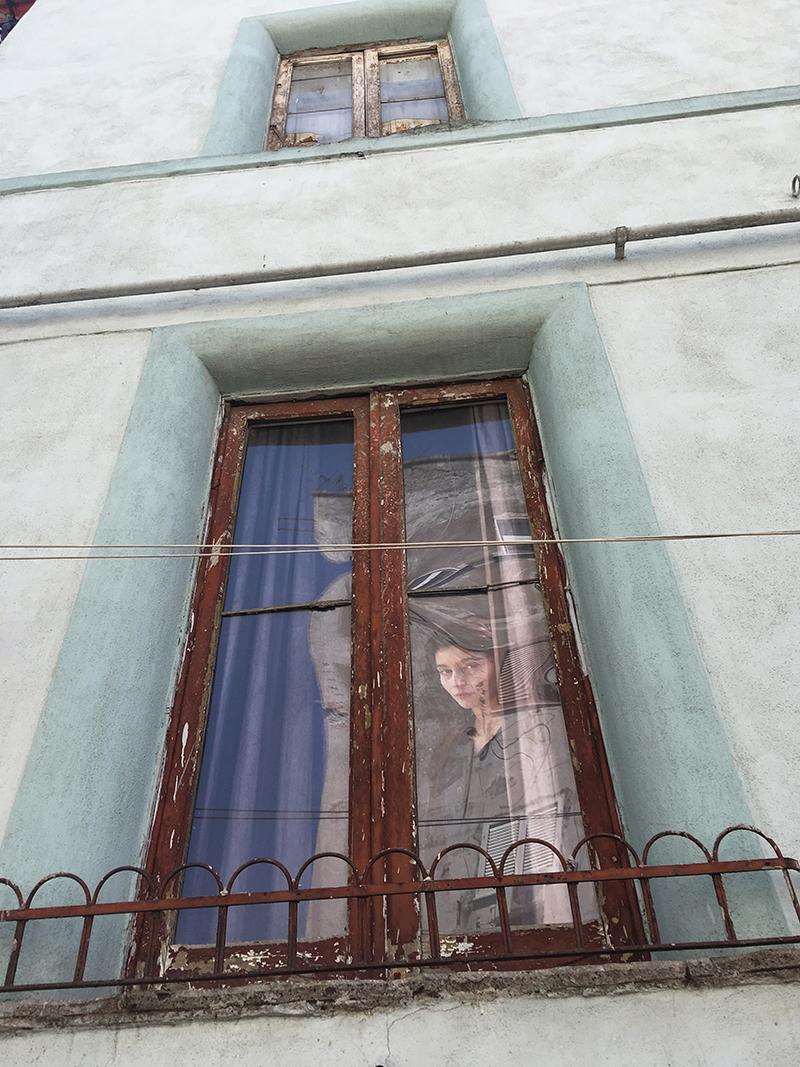 Лила в окне