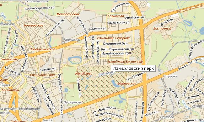 Транзитное движение по Измайловскому парку будет запрещено