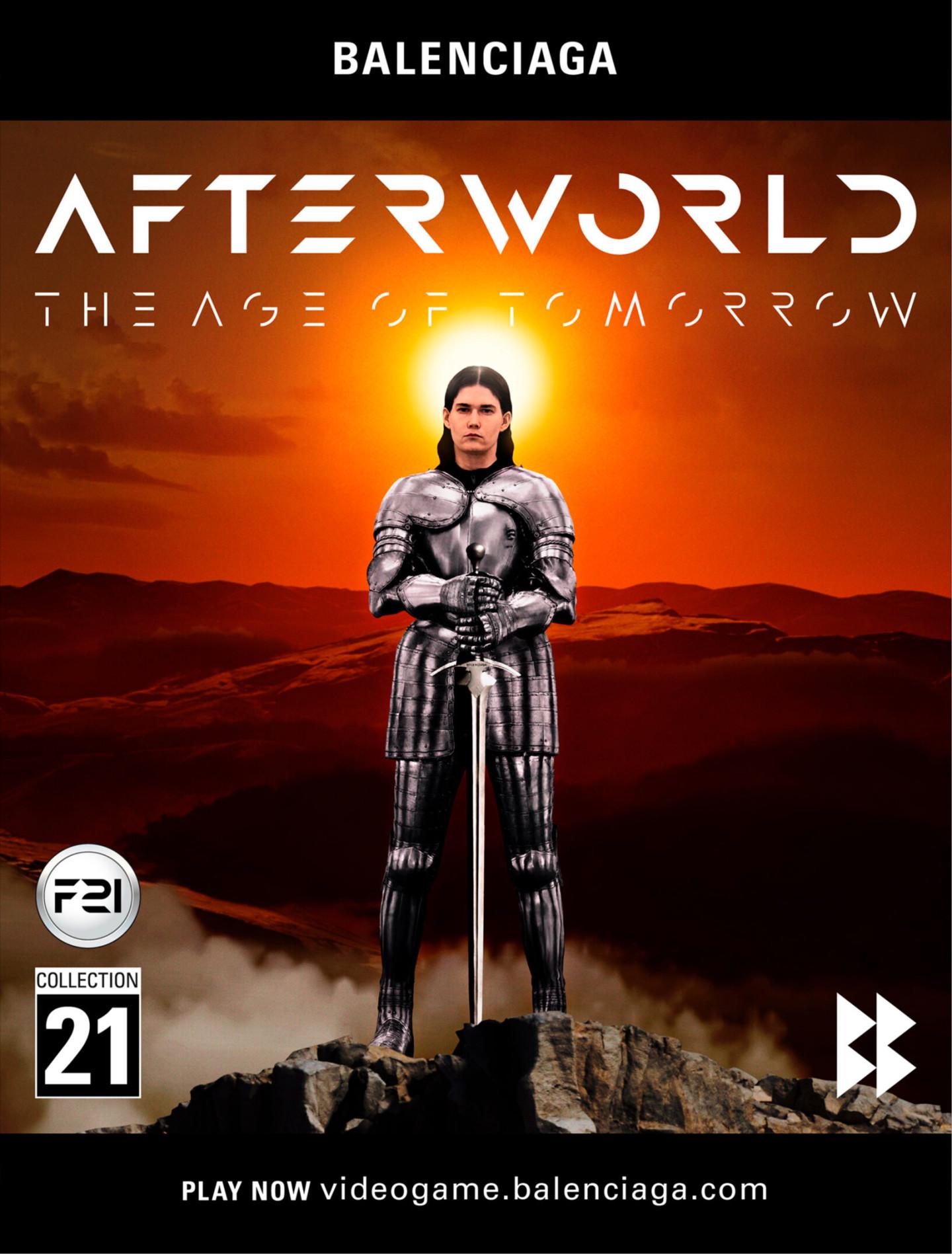 Обложка видеоигры«Afterworld: The Age of Tomorrow» от Balenciaga