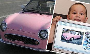 Трехлетний мальчик купил Nissan Figaro в Интернете