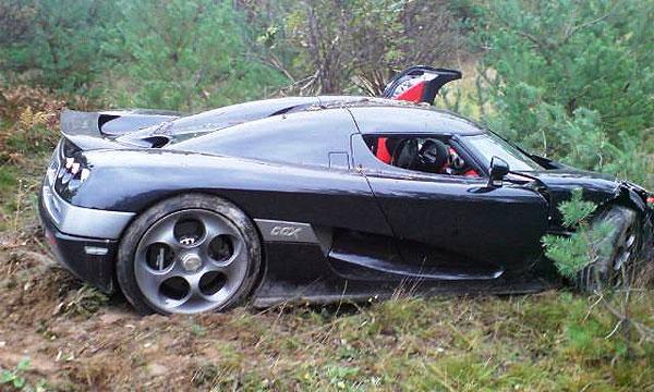 Швед разбил Koenigsegg через 18 часов после покупки