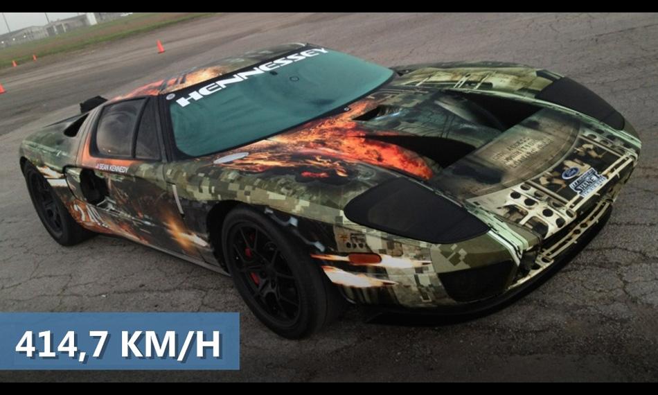Ford GT поставил рекорд скорости, разогнавшись до 414 км/ч