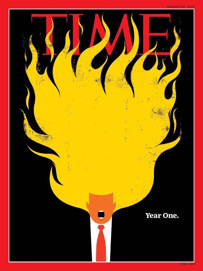 Обложка Time, январь 2018
