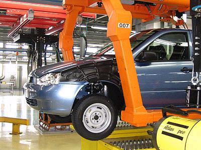 В России в 2012 году было произведено 2 миллиона автомобилей
