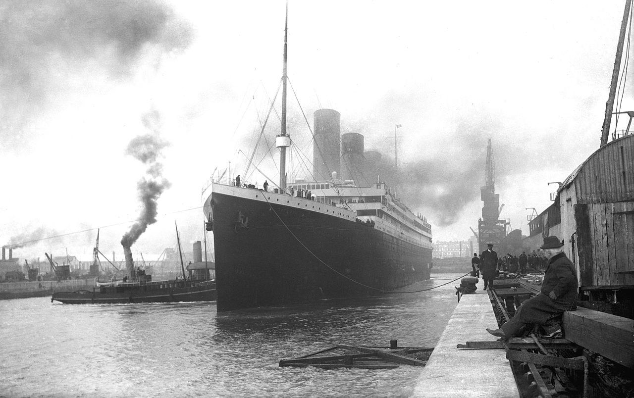 «Титаник» перед отправлением из Саутгемптона, 1912 год