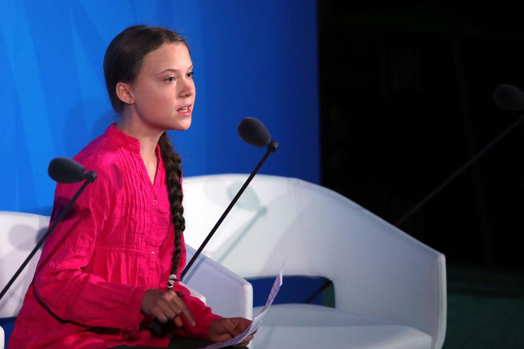 Грета Тунберг на сессии в ООН