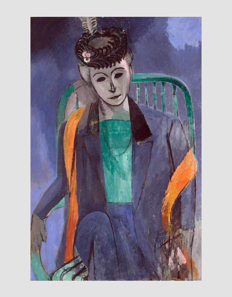 Анри Матисс.«Портрет мадам Матисс» (1913, Эрмитаж)