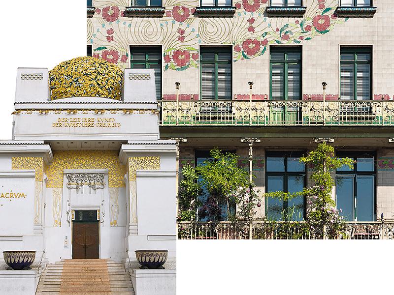 Павильонвенскогосецессиона;Доходный дом Майолик-хауз Отто Вагнера