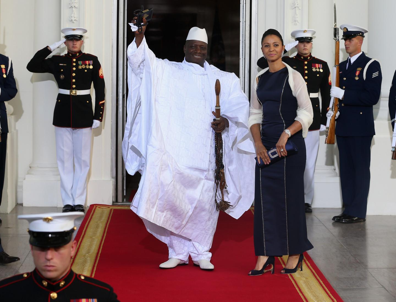 Президент Гамбии Яйя Джамме и первая леди Зейнаб Джамме.