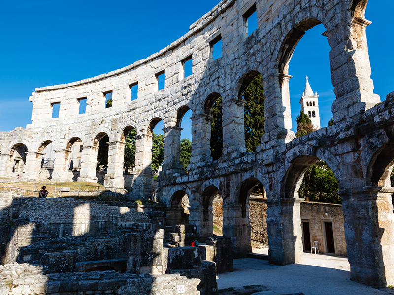 Древний римский амфитеатр в пуле, Истрия, Хорватия
