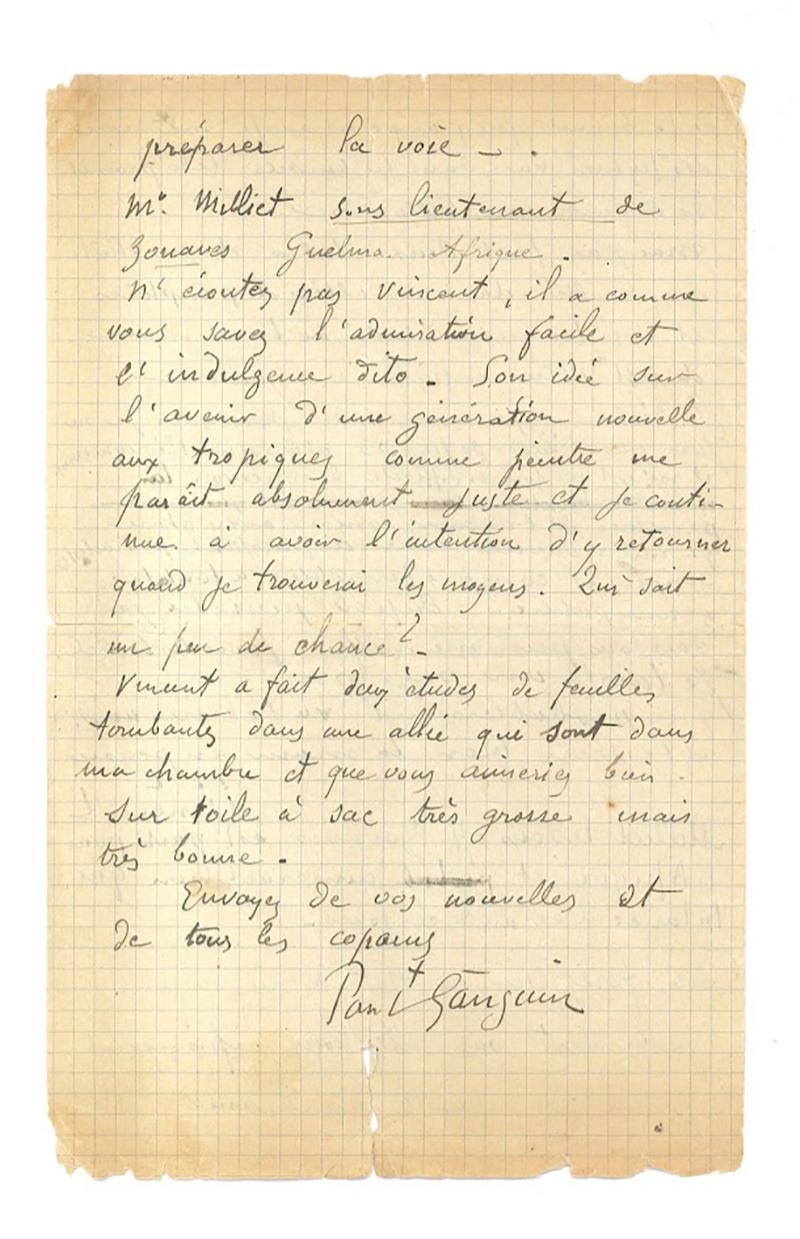 Письмо Винсента Ван Гога и Поля Гогена к Эмилю Бернару