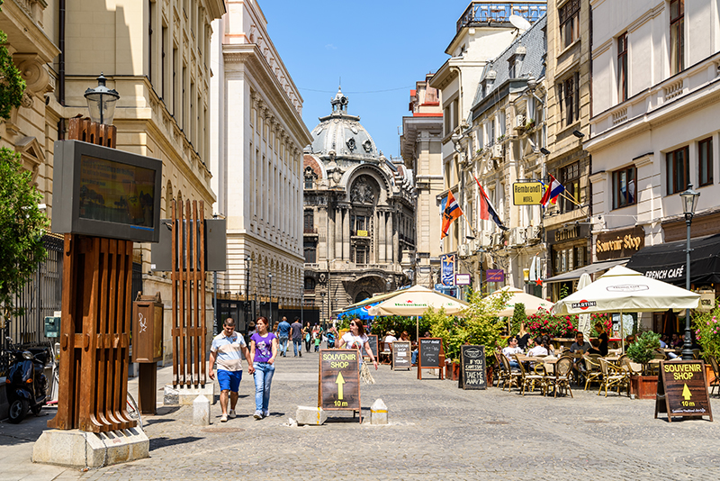 Улица Lipscani, Бухарест
