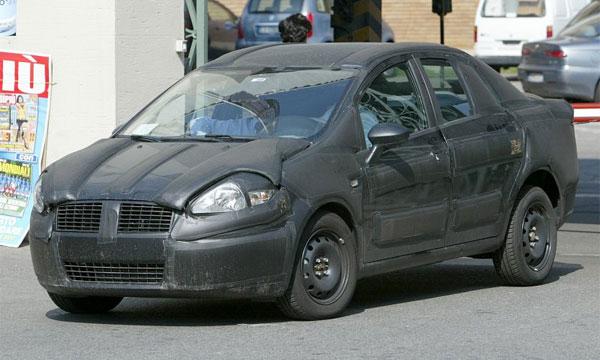 Опубликованы шпионские фото седана Fiat Grand Punto
