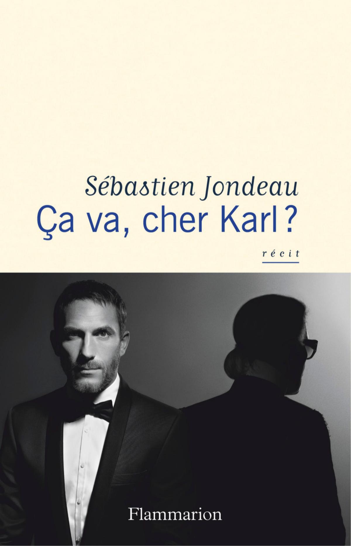 Обложка книги«Ça va, cher Karl?», написанной телохранителем Карла ЛагерфельдаСебастьяном Жондо