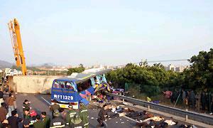 В Испании перевернулся пассажирский автобус, 7 человек погибли
