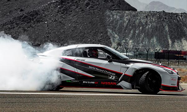 Nissan GT-R установил рекорд скорости в дрифте