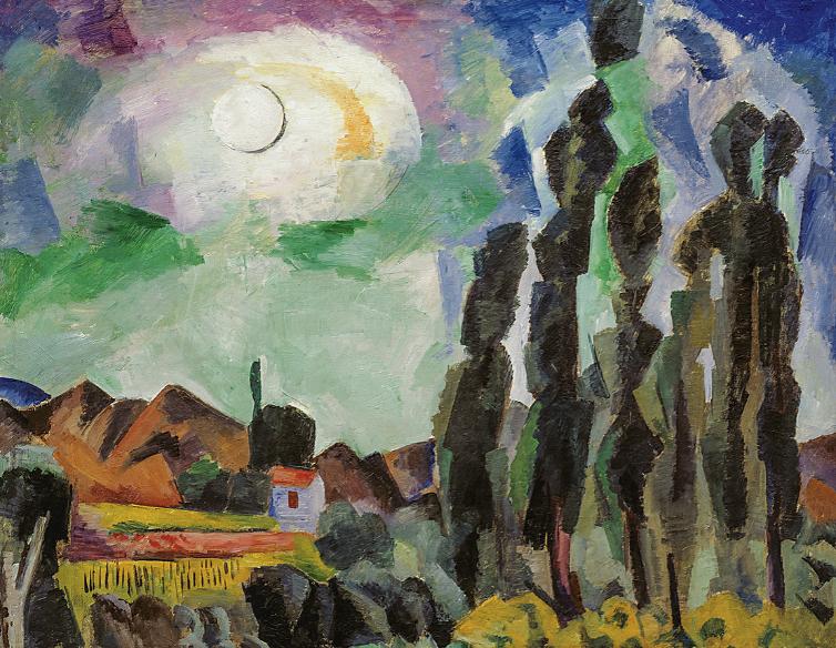 Роберт Фальк, «Солнце. Крым. Козы», 1916