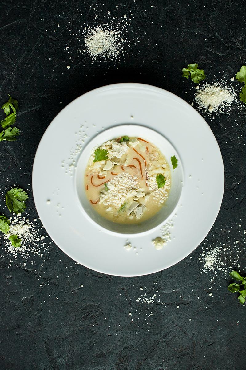 Суп из дыни с мороженым