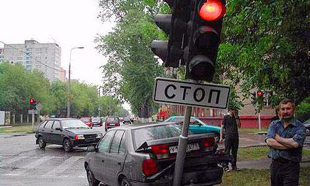 Самые курьезные ДТП Москвы и Подмосковья