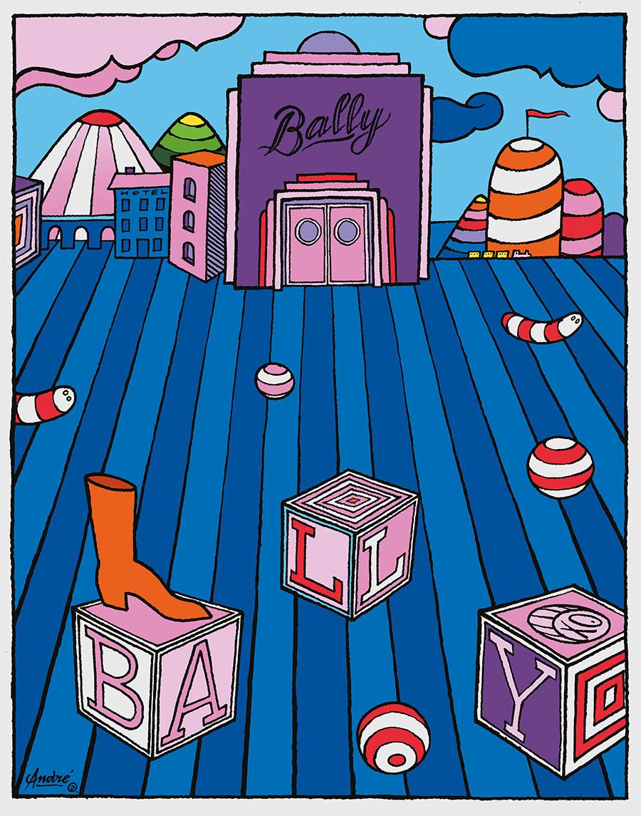 Рекламный постер для Bally