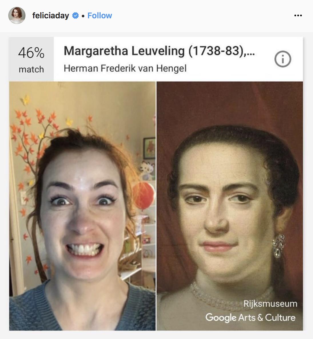 Фелиция Дэй («Сверхъестественное») и портрет супруги нидерландского просветителя работы Хермана Фредерика ван Хенгеля.