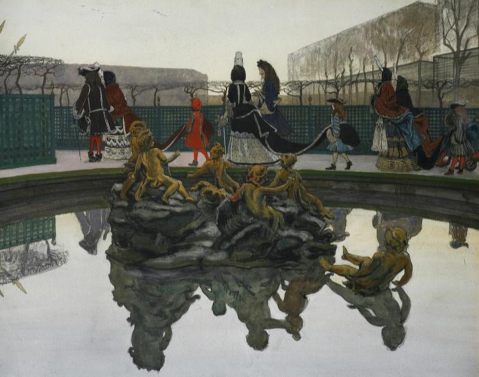 Александр Бенуа, «Прогулка короля», 1906