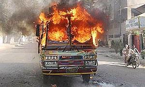 В таджикском автобусе заживо сгорел 21 человек
