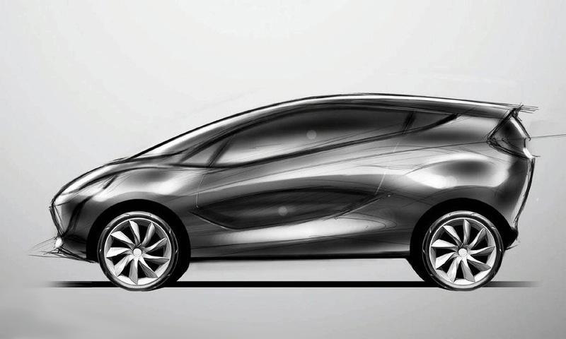 Появились первые скетчи концепта Mazda1