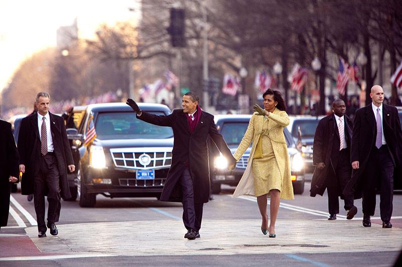 Президент США Барак Обамаи Мишель Обама,первая леди США в 2009–2017 годах