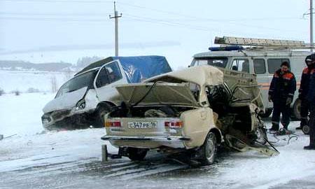 Самые страшные автомобильные аварии декабря. ВИДЕО