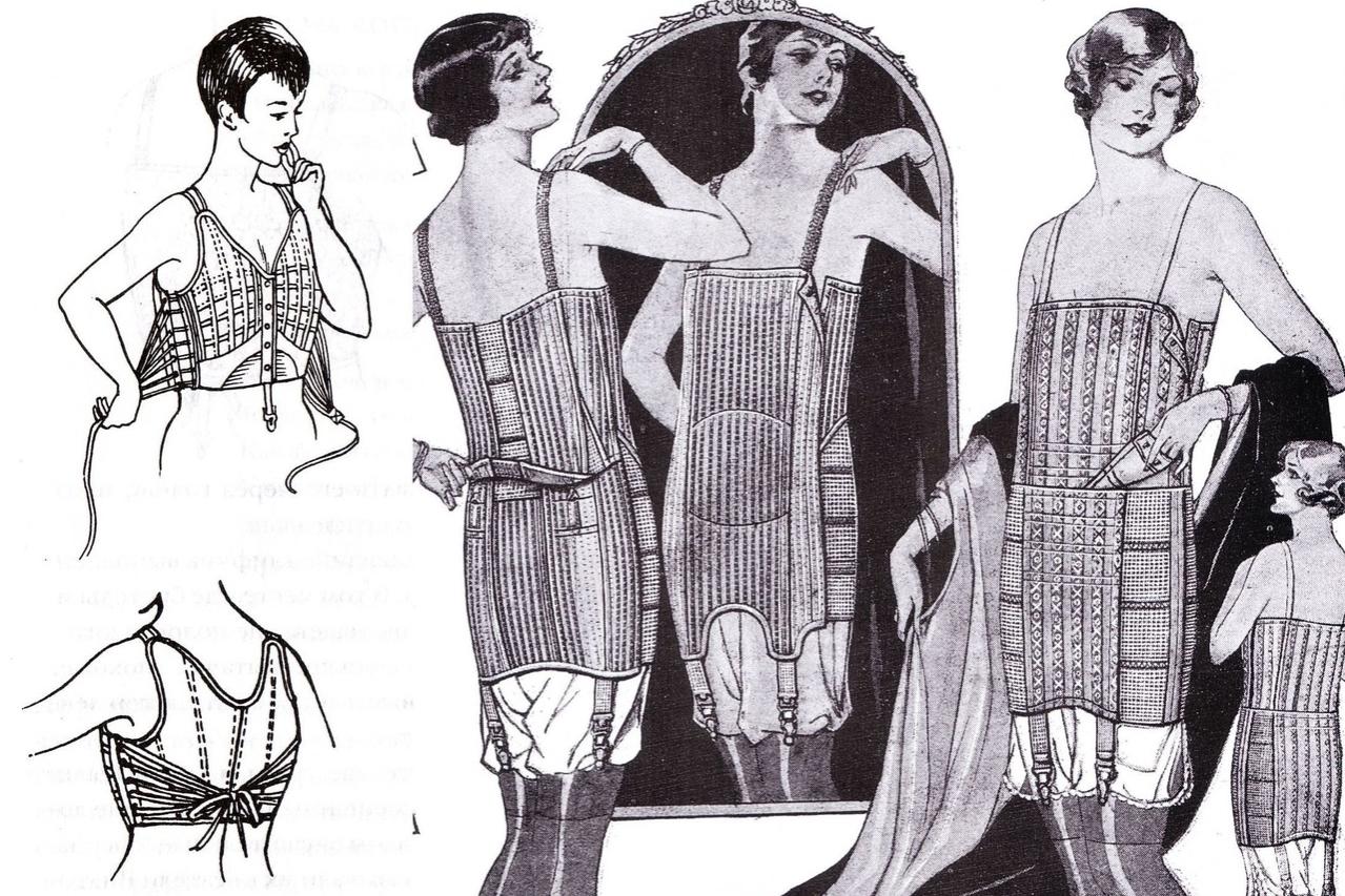 Утягивание груди в 1920-х
