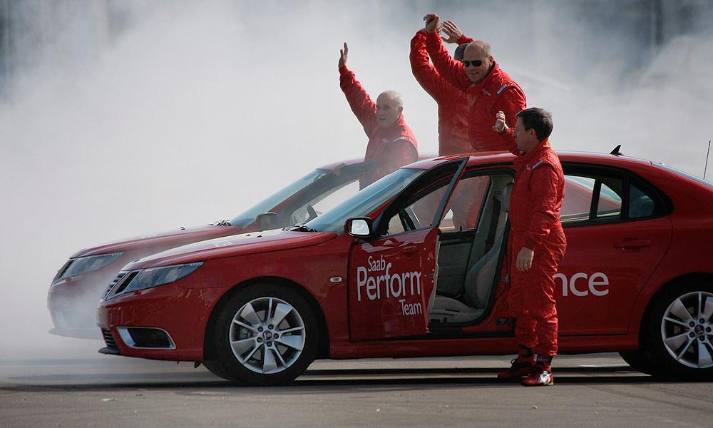 В Москве состоялось шоу Saab Performance Drive