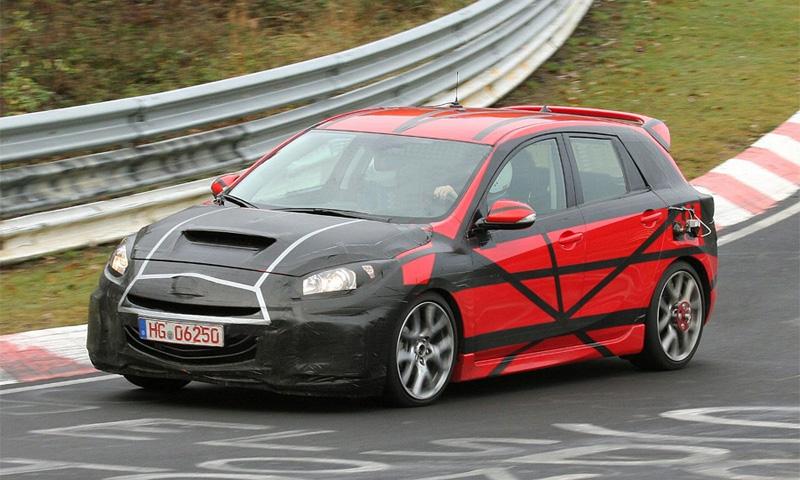 Новую Mazda3 MPS засекли на Нюрбургринге