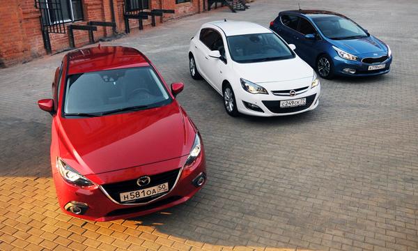 Wow-класс: Astra и cee'd против Mazda3