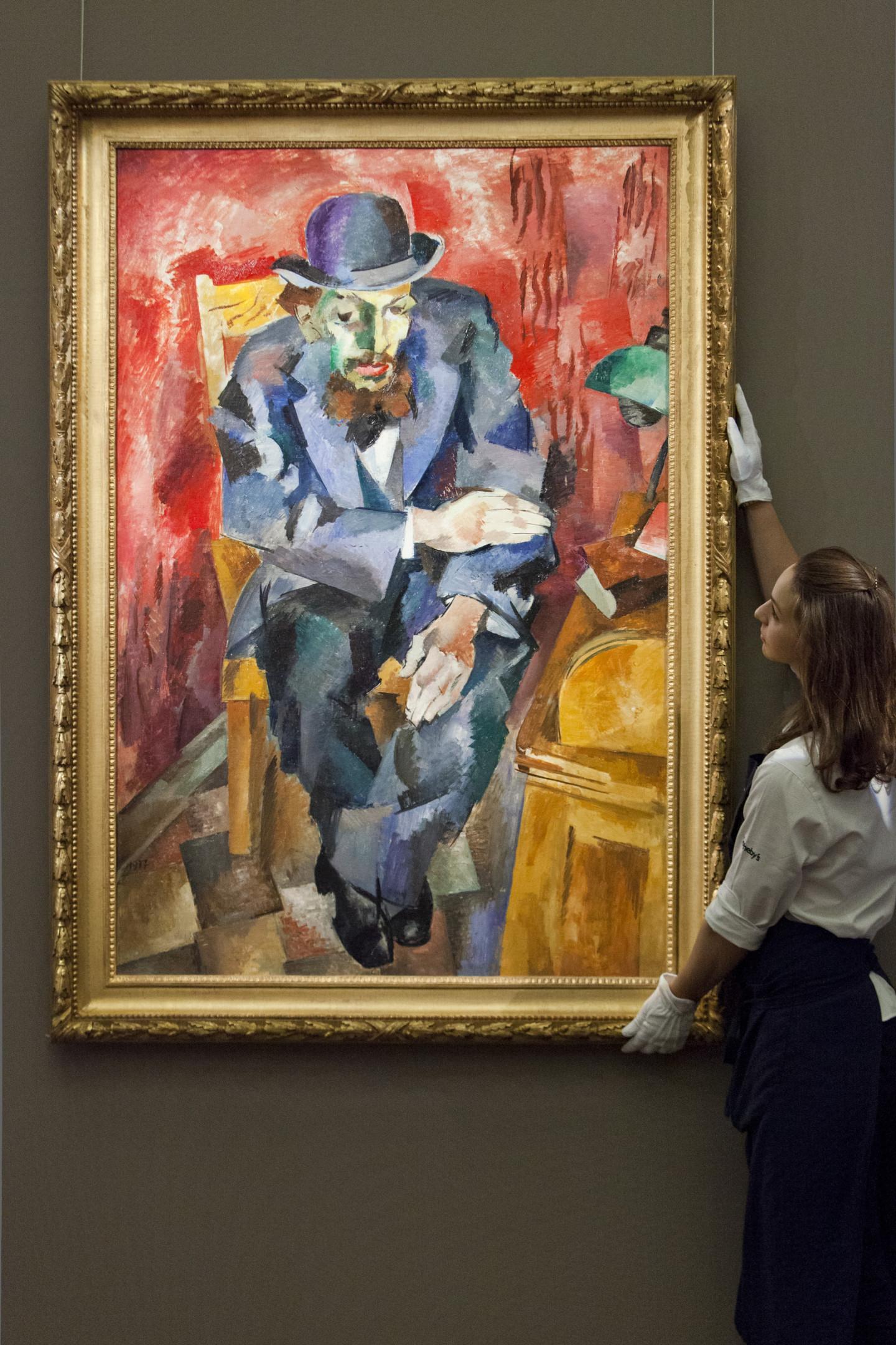 Роберт Фальк. «Мужчина в котелке. Портрет Якова Каган-Шабшая», 1917