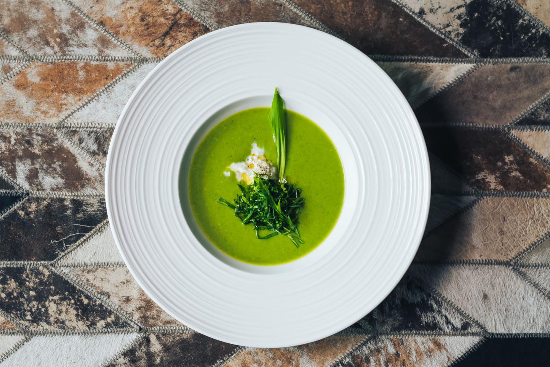 Крем-суп из брокколи с черемшой