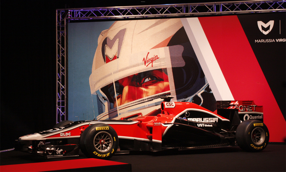 Marussia Virgin Racing везет гоночный болид в Сочи