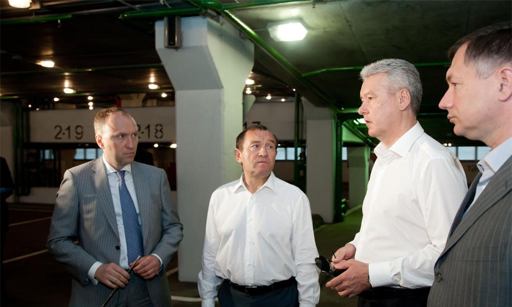 Подэстакадное пространство на участке Третьего транспортного кольца посетил мэр Москвы Сергей Собянин
