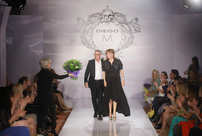 Диего Мацци и Мануэла Бортоламеоли на московском показе Diego M