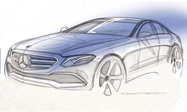 Mercedes показал дизайн нового E-Class на скетче