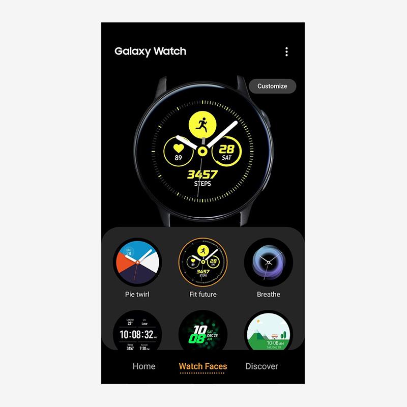 Приложение Galaxy Wearable
