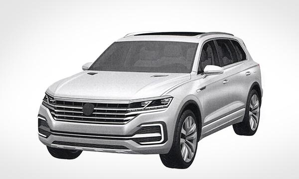 Дизайн нового Volkswagen Touareg рассекретили до премьеры