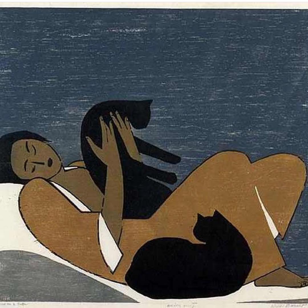 Уилл Барнет.«Женщина и коты», 1962 год