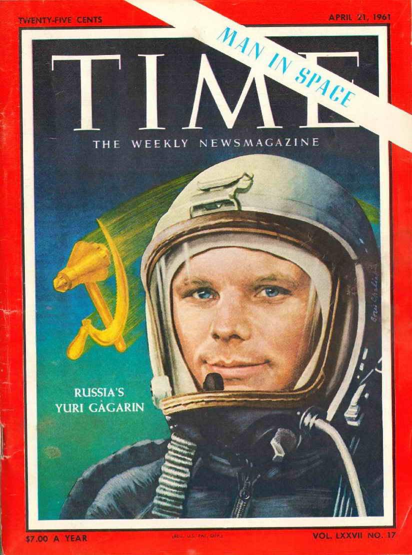 Обложка журнала Time от 21 апреля 1961