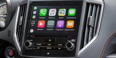 Медиасистема поддерживает Subaru Starlink, Apple CarPlay и Android Auto. Распознавание голосовых команд улучшено.